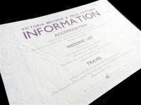 information card inserts  wedding invitations