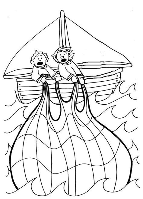 coloring pages jesus fish disciples the miraculous catch of fish coloring pages glue fish
