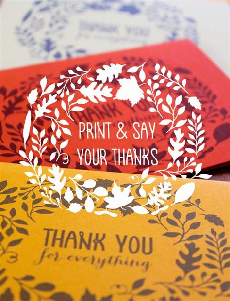 printable thank you for everything cards diy free printable cards free printables pinterest