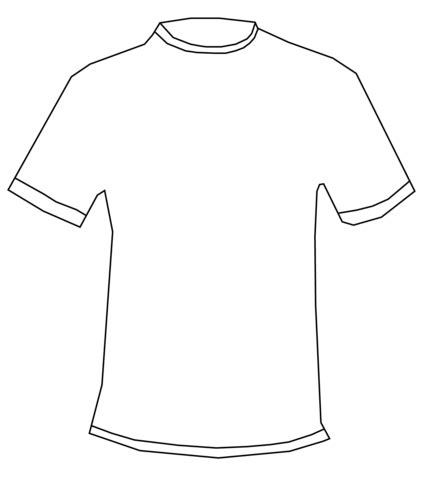 Coloring Page T Shirt by T Shirt Coloring Page Free Printable Coloring Pages
