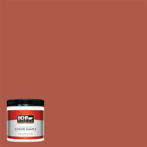 behr premium plus 8 oz ppu2 14 tibetan orange flat interior exterior paint sle pp10316