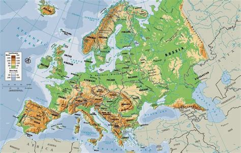 russia and europe physical map physical maps of europe free printable maps