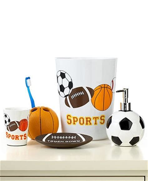 sports bathroom decor sports accessories boys room bath pinterest