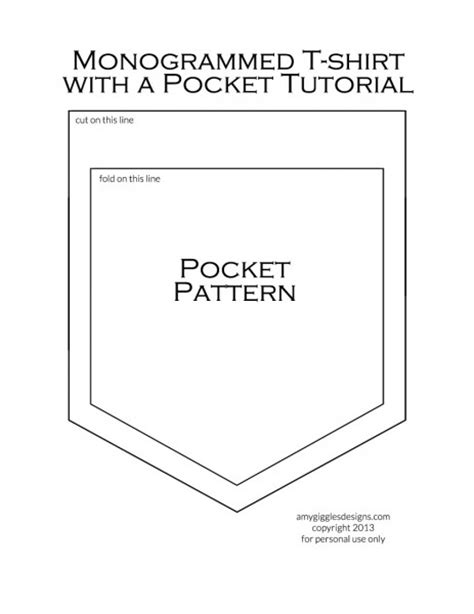 pocket template for sewing t shirt pocket pattern template studio design