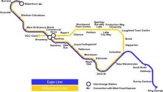 canada line skytrain map file vancouver skytrain current map png