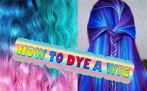how to color synthetic hair color dye synthetic hair how to tutorial hairdo