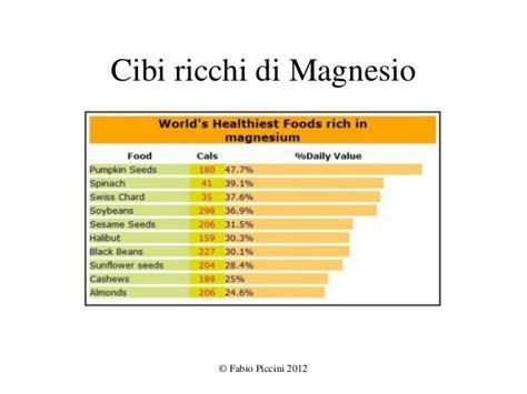 magnesio negli alimenti magnesio e salute