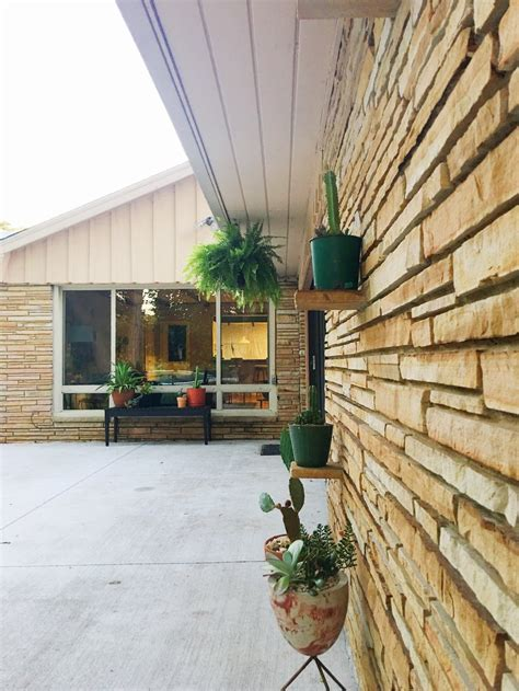 chiminea tulsa mid century modern ranch home creating a modern eclectic