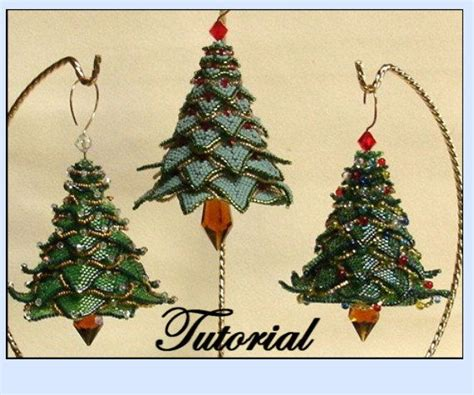 pattern for christmas tree ornament christmas tree beaded ornament