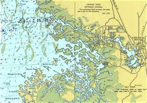 Map Of Crystal River Florida by Crystal River 1975