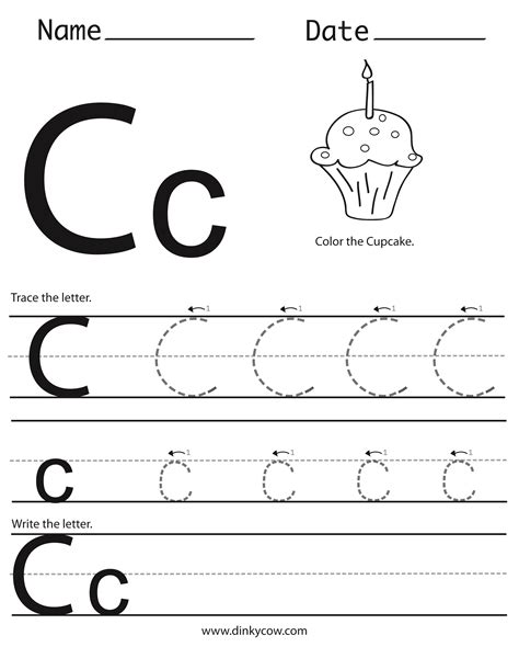 preschool printable worksheets letter c 6 best images of free printable preschool worksheets