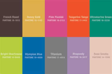 tope color which pantone color trends will you be wearing this fall