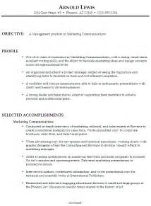 functional resume sample marketing communications management