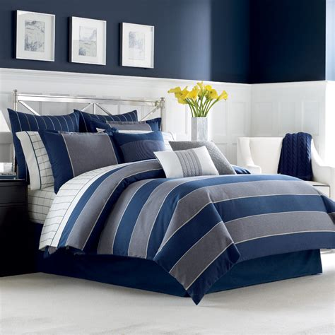 gray and blue comforter nautica harpswell bedding collection from beddingstyle com