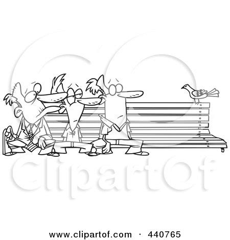 bench outline pin cartoon bench and l post on pinterest