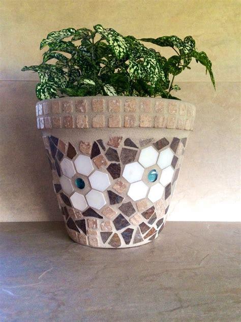 Rustic Flower Pots Planters by Mosaic Flower Pot Large Rustic Planter Outdoor Patio Pot
