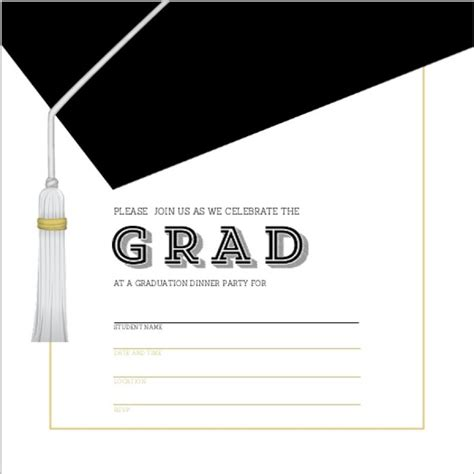 invitation cards templates for graduation 40 free graduation invitation templates template lab