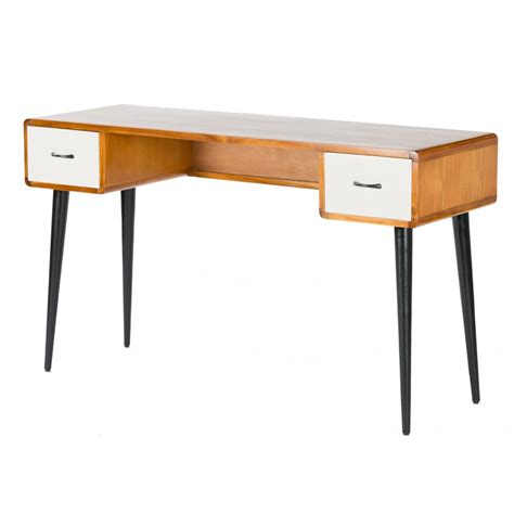 small retro desk libra retro console writing desk from fusion living