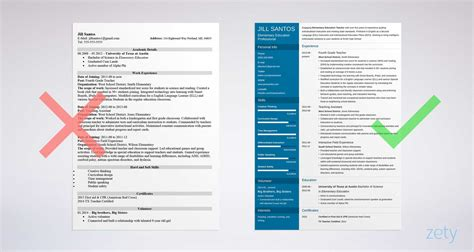 Resume For Teachers by Resume Sle Complete Guide 20 Exles