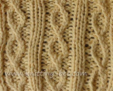 yf knitting figure 8 rib knit stitch pattern free knitting stitches