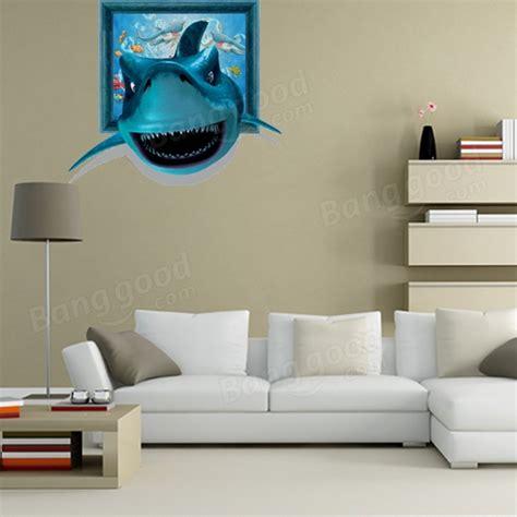 shark home decor 3d shark wall decals wall art painting stickers 26 inch