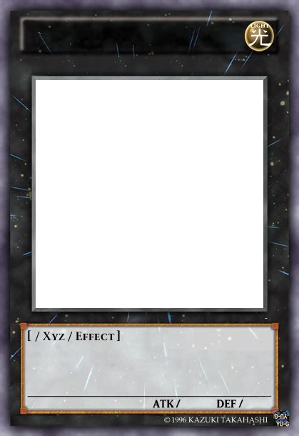 Yugioh Card Proxy Template by Can We Level Rank 0 At The Card Maker Comments And