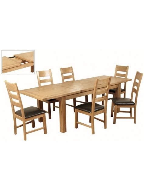 Dining Set With Leaf Elmwood Large Leaf Dining Set With Elmwood Chair
