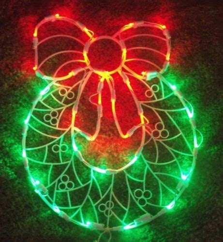 lighted bows outdoor led outdoor lighted door wreath bow sign window