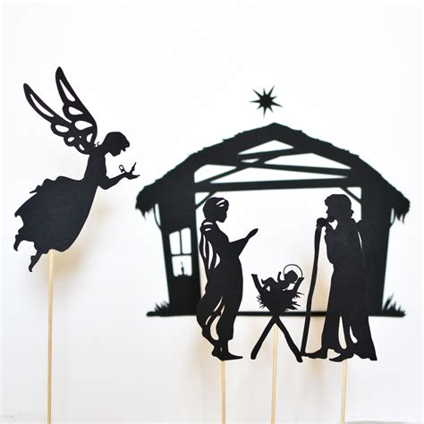 How To Make Paper Shadow Puppets - nativity shadow puppet set