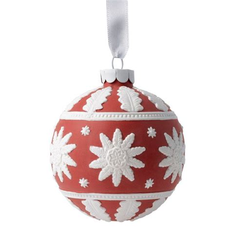 wedgwood neoclassical ball red porcelain ornament
