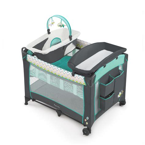Playard Playpen Travel Baby Bassinet Changing Table Crib Playpen With Bassinet And Changing Table