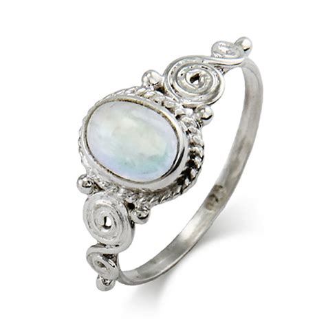 Vintage Silber by Vintage Moonstone Sterling Silver Ring S Addiction 174
