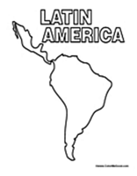 latin america map coloring pages central america coloring pages