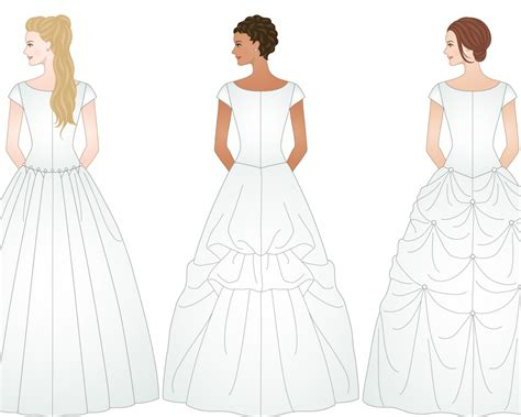 Wedding Dresses By Type by 3 Different Exles Of Ways To Bustle A Wedding Dress