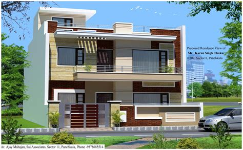3d view of house at panchkula gharexpert