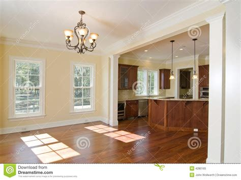 Kitchen Dining Room Remodel open kitchen and dining area royalty free stock photo