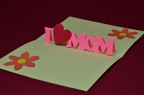 3d S Day Card Template by Mothers Day Pop Up Free Cards Free S Day Pop Up