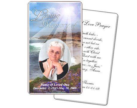 free printable funeral prayer card template vastuuonminun