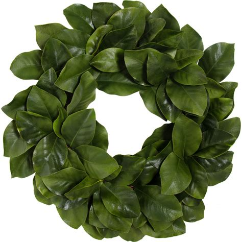 26 quot artificial magnolia leaf wreath realistic green