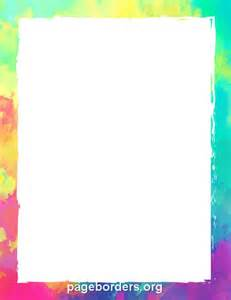 printable colorful border use the border in microsoft