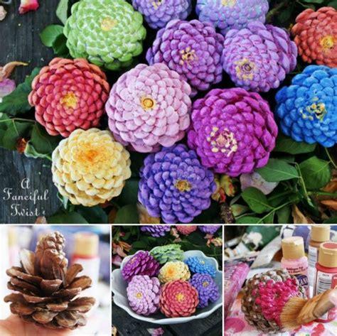 how to make pine cone flowers flower power pinterest make flowers from pine cones usefuldiy com