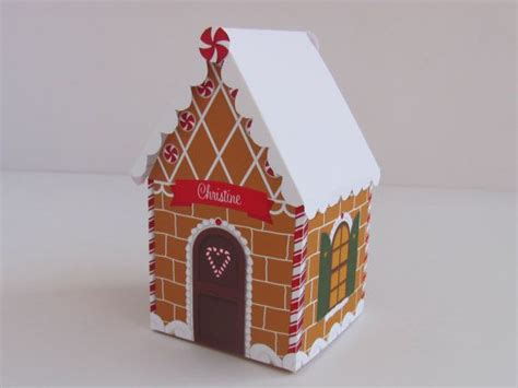 How To Make Paper Gingerbread - instant printable paper gingerbread house favor