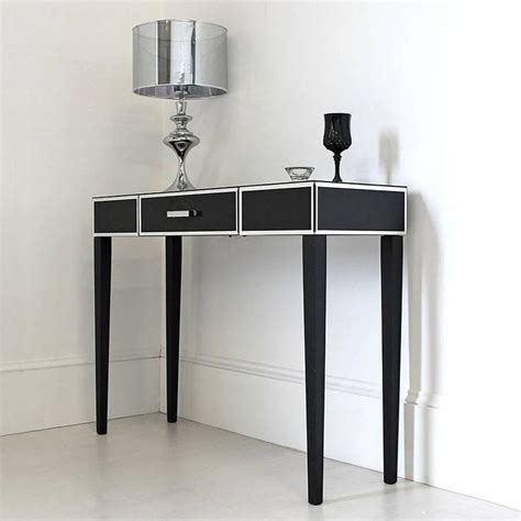 Black Glass Console Or Dressing Table Crafts Diy Glass Dressing Table
