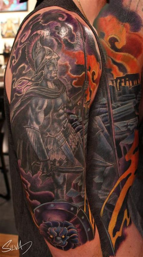 custom ares god of war tattoo by marvin silva tattoos