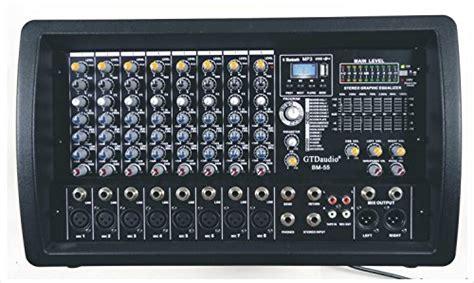 Power Mixer Black Spider 8 Channel gtd audio 8 channel 4000watt professional powered mixer lifier 1000 watt rms electronics