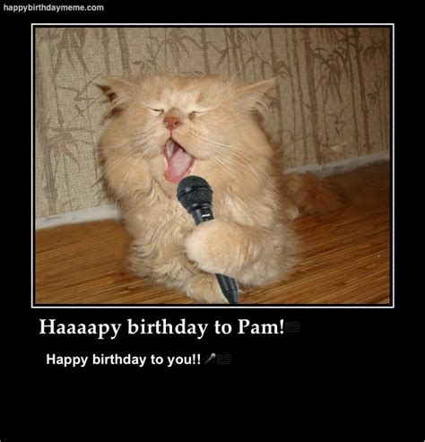 Pamela Meme - pam birthday happybirthdaymeme com