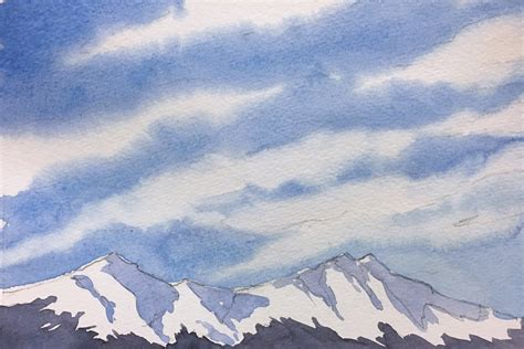 tutorial watercolor clouds how to paint wispy cirrus clouds watercolor