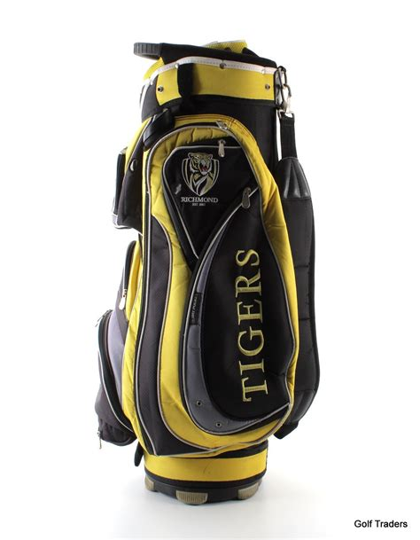 pgf richmond tigers golf cart bag black yellow grey