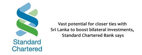 standard bank investments opportunities vast potential for closer ties with sri lanka to boost