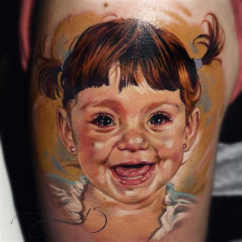 tattoos for baby girl happy baby by juan portraits